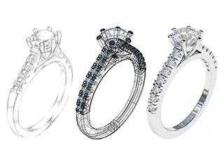 Custom designed ring gallery